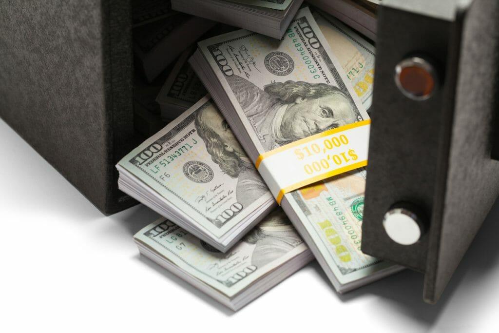 Unclaimed money in vault