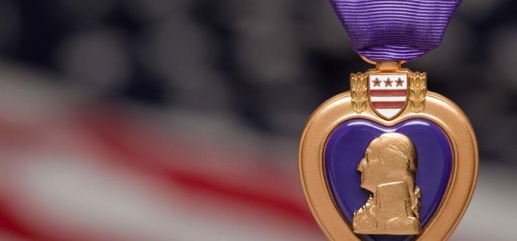 Unclaimed war medal Purple Heart